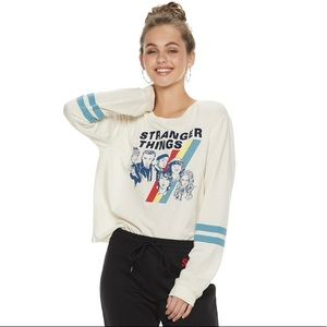 Tops - Stranger Things Striped Long Sleeve Graphic Tee